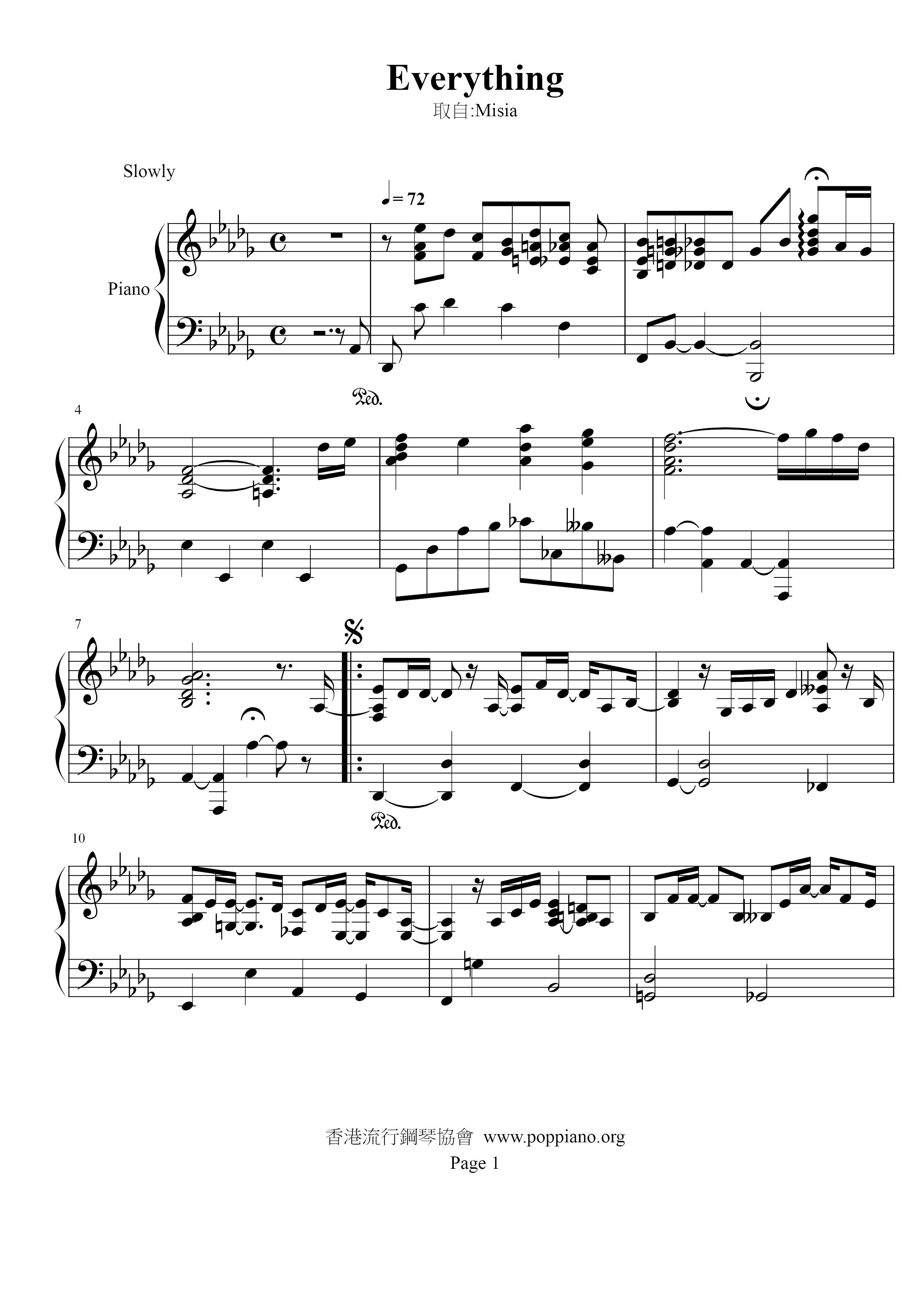 Misia Everything Sheet Music Pdf ßーシャ Free Score Download