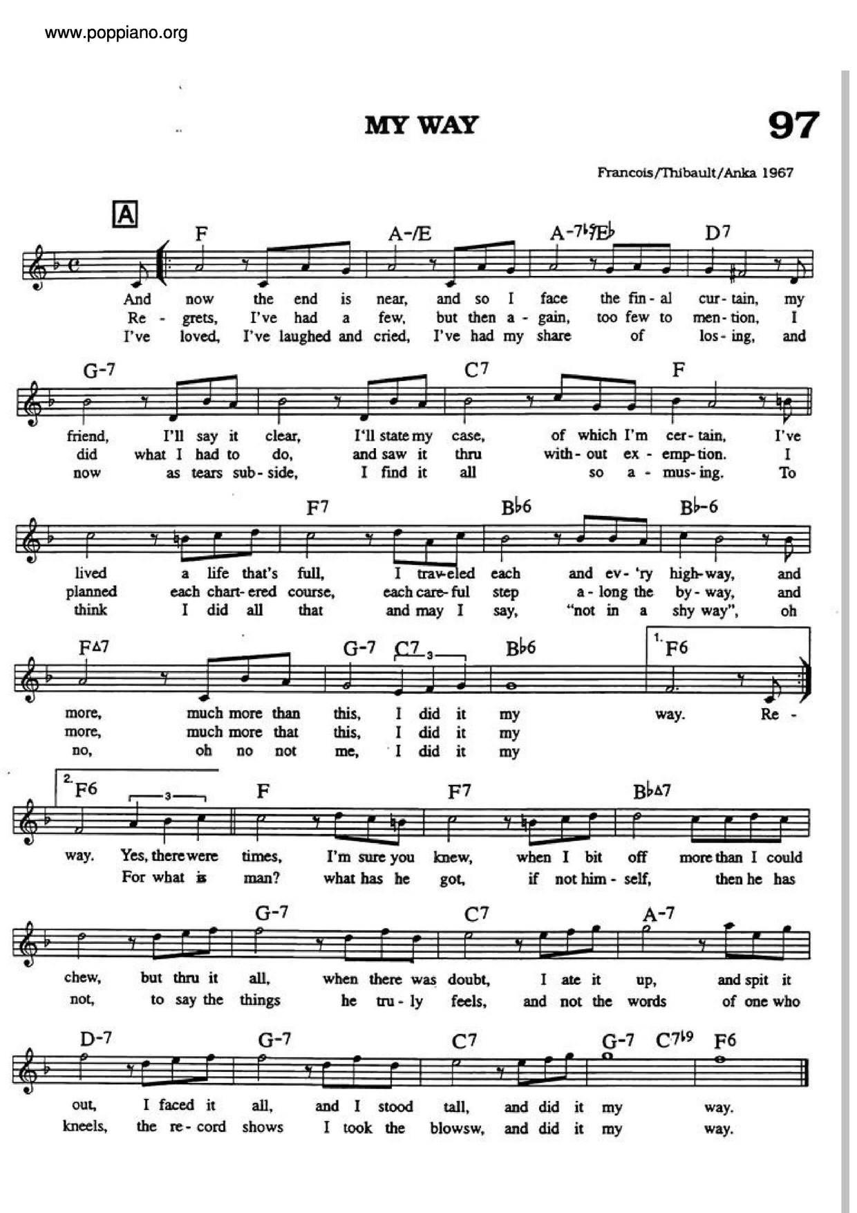 My Wayall Versions Sheet Music Piano Score Free Pdf Download Hk Pop Piano Academy
