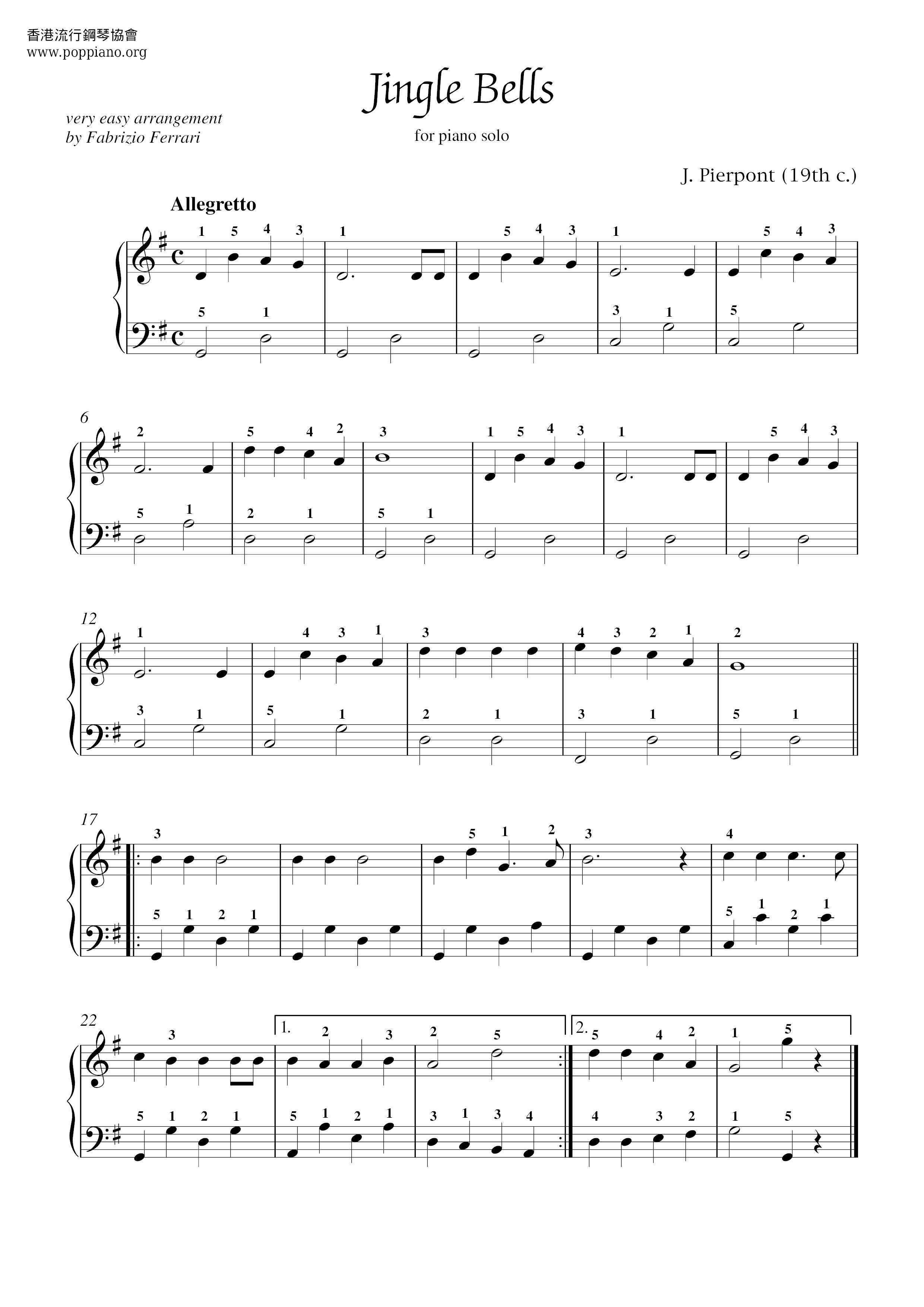 Christmas-Jingle Bells Sheet Music pdf, - Free Score Download ★