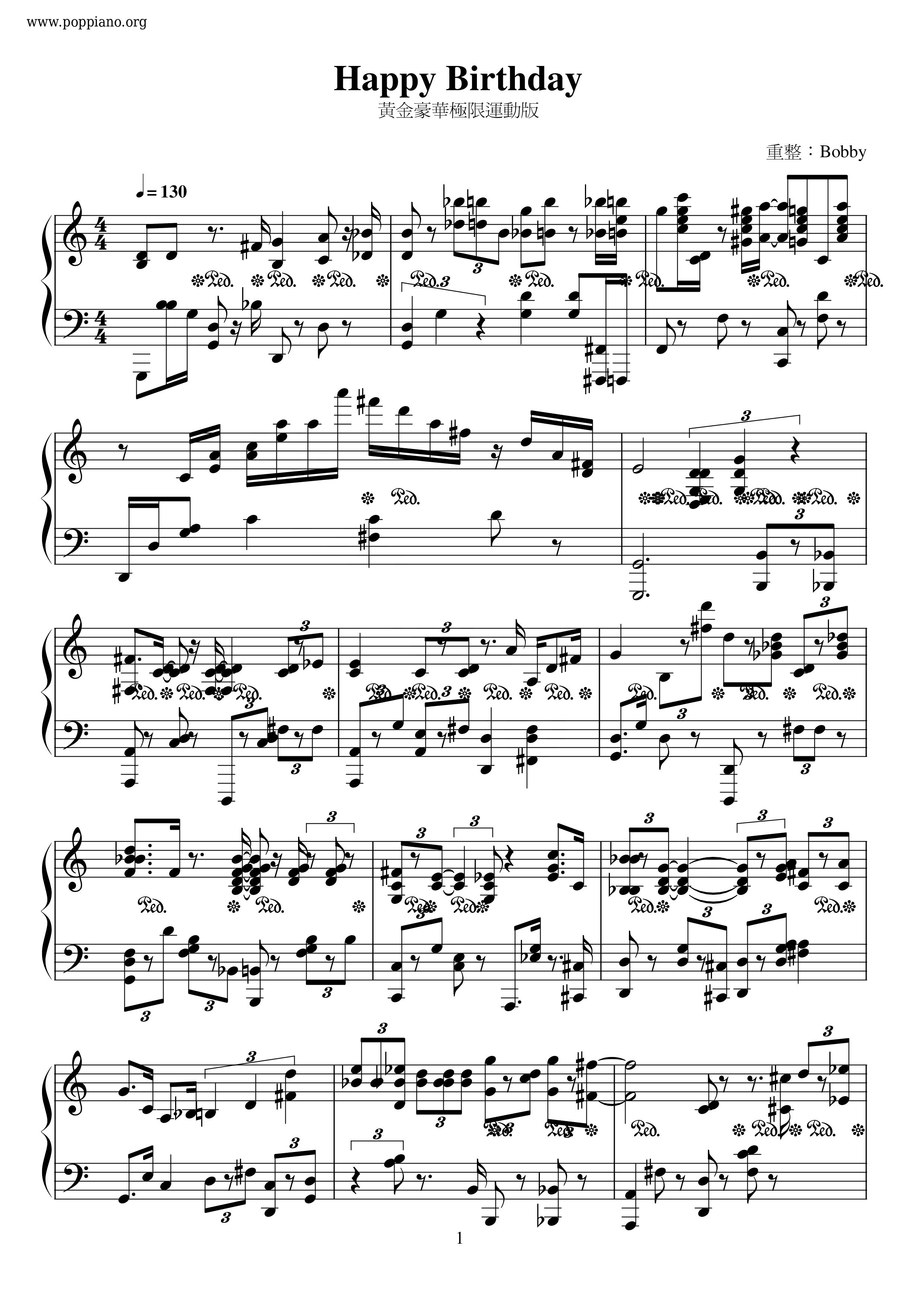 バースデー 楽譜 無料 ハッピー