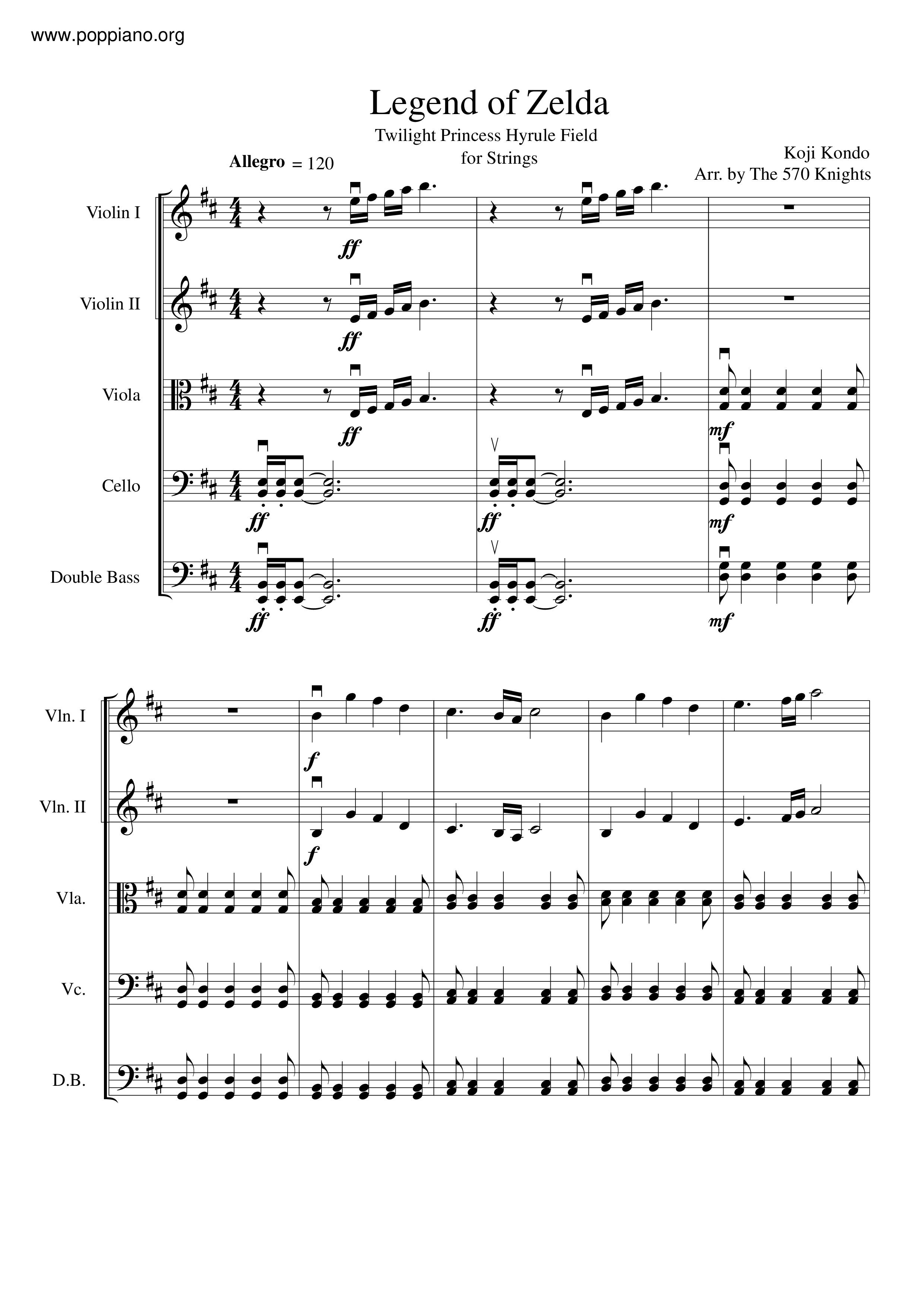 The Legend Of Zelda Twilight Princess Hyrule Field Sheet Music Pdf Free Score Download
